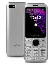 Tlačidlový telefón myPhone Maestro, strieborná POUŽITÉ, NEOPOTREB