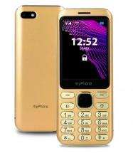 Tlačidlový telefón myPhone Maestro, zlatá