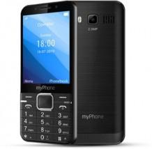 Tlačidlový telefón myPhone Up, čierna