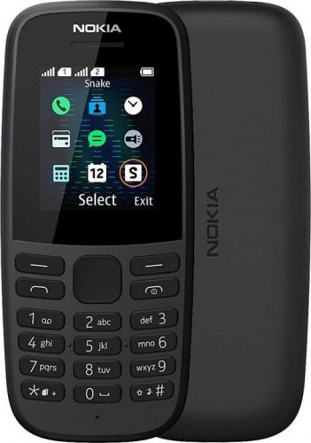 Tlačidlový telefón Nokia 105 DS 2019, čierna