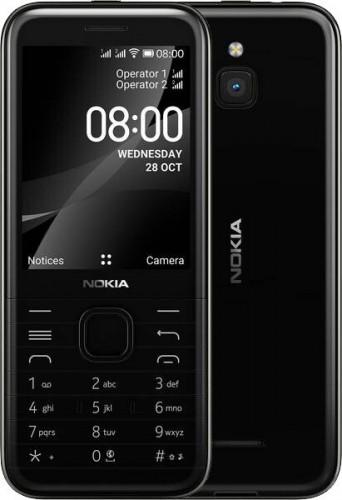 Tlačidlový telefón Nokia 8000 4G, čierny