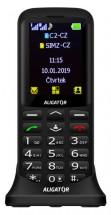 Tlačidlový telefón pre seniorov Aligator A700, čierna
