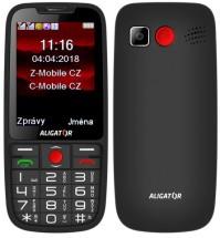 Tlačidlový telefón pre seniorov Aligator A890, čierna POUŽITÉ, NE