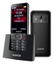 Tlačidlový telefón pre seniorov Aligator A900, čierna POUŽITÉ, NE