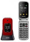Tlačidlový telefón pre seniorov Aligator V650, červená