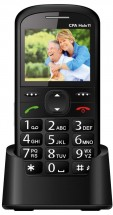Tlačidlový telefón pre seniorov CPA HALO 11, čierna