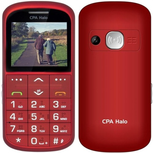 Tlačidlový telefón pre seniorov CPA Halo 11 Pro, červená