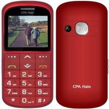 Tlačidlový telefón pre seniorov CPA Halo 11 Pro, červený