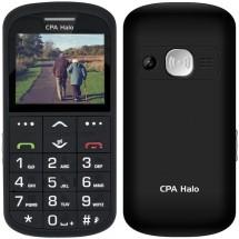 Tlačidlový telefón pre seniorov CPA Halo 11 Pro, čierny
