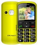 Tlačidlový telefón pre seniorov CPA HALO 11, žltá