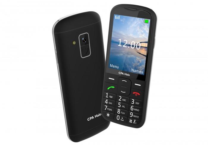 Tlačidlový telefón pre seniorov CPA Halo 18, čierna