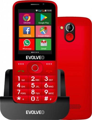 Tlačidlový telefón pre seniorov Evolveo EasyPhone AD, červená
