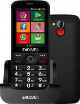Tlačidlový telefón pre seniorov Evolveo EasyPhone AD, čierna