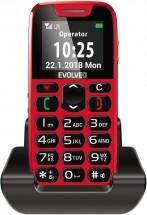 Tlačidlový telefón pre seniorov Evolveo EasyPhone, červená