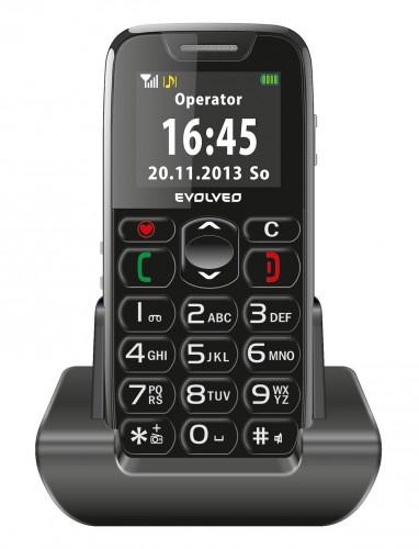 Tlačidlový telefón pre seniorov Evolveo EasyPhone EP-500, čierna