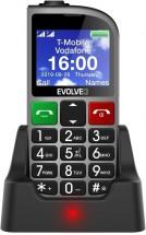 Tlačidlový telefón pre seniorov Evolveo EasyPhone FM, strieborná