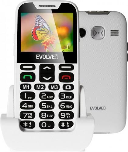 Tlačidlový telefón pre seniorov Evolveo EasyPhone XD, biela