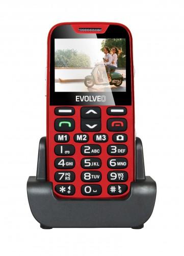 Tlačidlový telefón pre seniorov Evolveo EasyPhone XD, červená