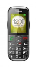 Tlačidlový telefón pre seniorov Maxcom MM720, čierna