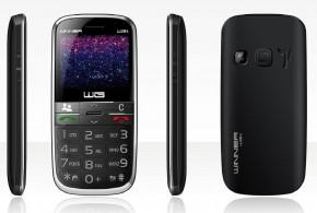 Tlačidlový telefón pre seniorov Winner WG15, čierna, POUŽITÝ