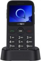 Tlačítkový telefon pro seniory Alcatel 2019G, šedá POUŽITÉ, NEOPO