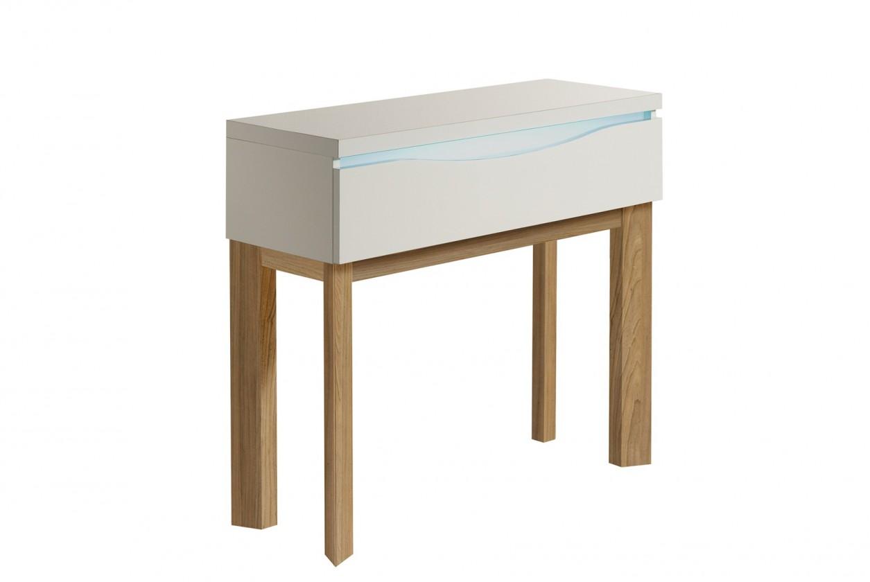 Toaletný stolík Almera - Toaletný stolík (biela/dub)