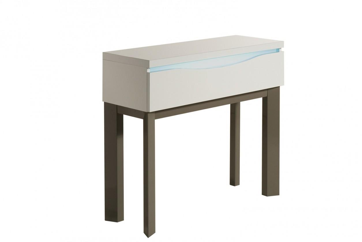 Toaletný stolík Almera - Toaletný stolík (biela/sivá)