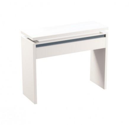 Toaletný stolík Diva - Toaletný stolík (biela/čierna)