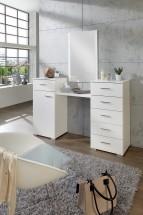 Toaletný stolík Pamela (alpská biela)