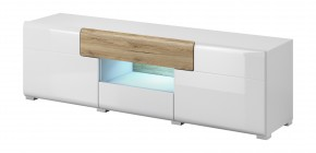 Toledo - TV stolík malý (biela, dub san remo)