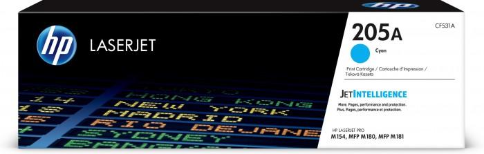Toner HP CF531A, 205A, azúrová