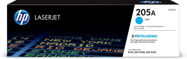 Tonery HP Toner HP CF531A, 205A, azúrová