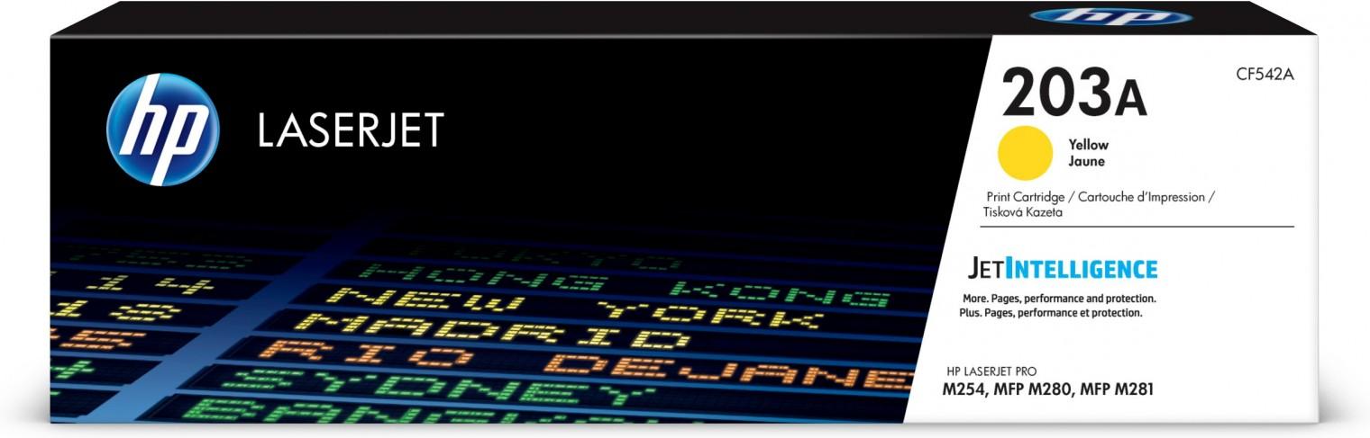 Tonery HP Toner HP CF542A, 203A, žltá