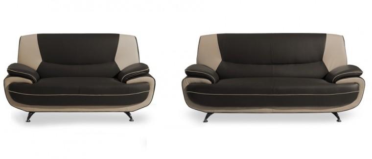 Toni-sedacie set (brown-hl.látka/ivory-dopln.látka)