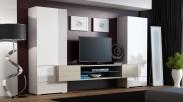 Torii - Obývacia stena (biela lesk, tv stol: dub sonoma)