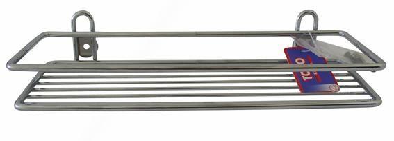Toro - polička obdĺžniková,kúpeľňová,30x10cm (pochrómovaný kov)
