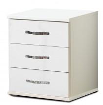 Trio - Komoda, 3x zásuvka (perleťová biela/alpská biela)