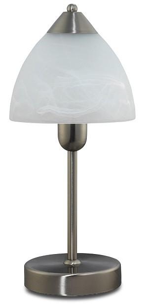 Tristan - Lampička, E14 (chromová/biela alabastrová)