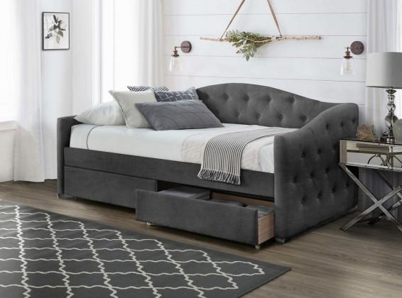 Trojsedák Čalúnená posteľ Belle 90x200, sivá, vrátane roštu a ÚP