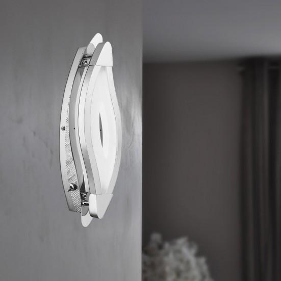 Trosi - Nástenné svietidlo, LED (chróm)