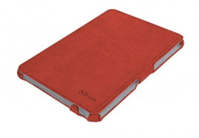 Trust Stile Hardcover Skin & Folio Stand for iPad mini - red POUŽ