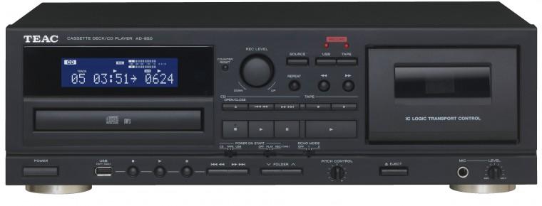 Tunery Kazetový magnetofón a CD prehrávač s USB TEAC AD-850, čierny