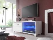 TV 1 - TV stolík (biela/biela)