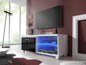 TV 1 - TV stolík (biela/čierna)