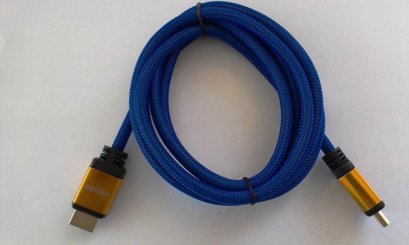 TV káble, adaptéry HDMI / HDMI TV kábel MK Floria s opletením 1,8m