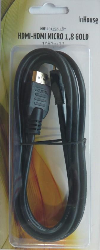 TV káble, adaptéry HDMI / mikroHDMI TV kábel MK Floria 1,8m