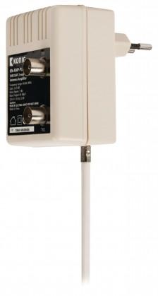 TV káble, adaptéry Televizní zesilovač v provedení plug-in, 10 dB, 2 výstupy