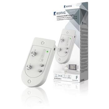 TV káble, adaptéry Televízny zosilňovač 28 dB, regulácia zosilnenia, 1 výstup
