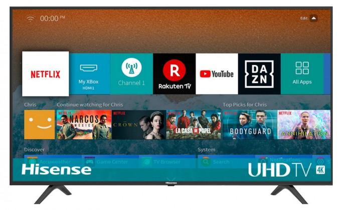 """TV s uhlopriečkou 55"""" (139 cm) Smart televízor Hisense H55BE7000 (2019) / 55"""" (138 cm)"""