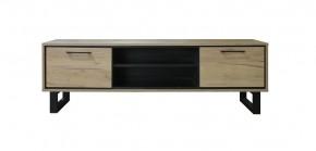 TV stolík Brick (dub, čierna)